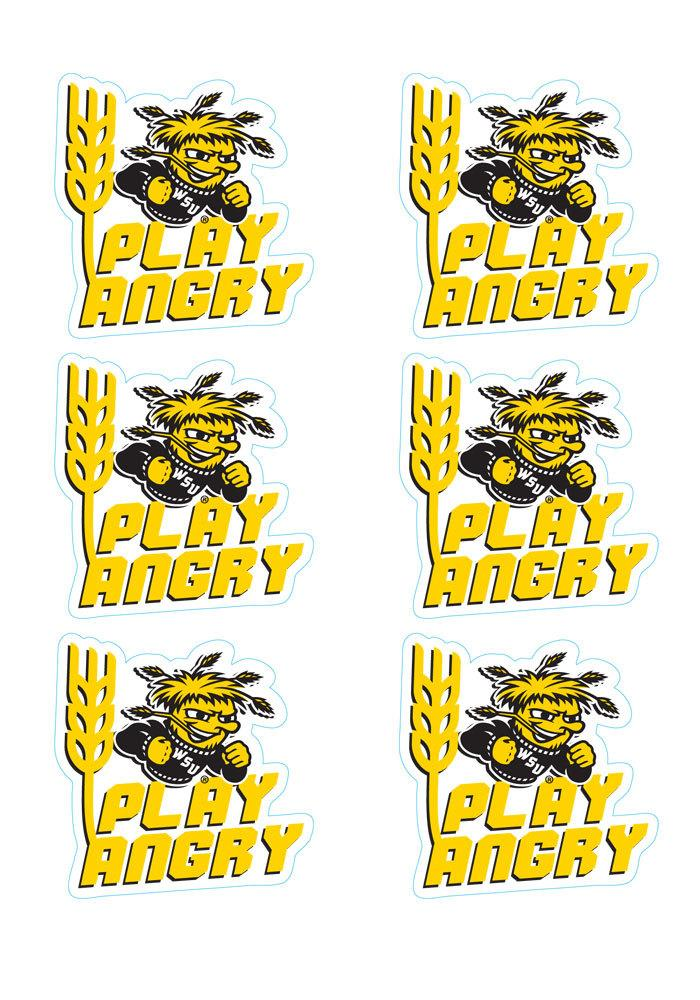 Wichita State Shockers 6 Pack Play Angry Tattoo - Image 1
