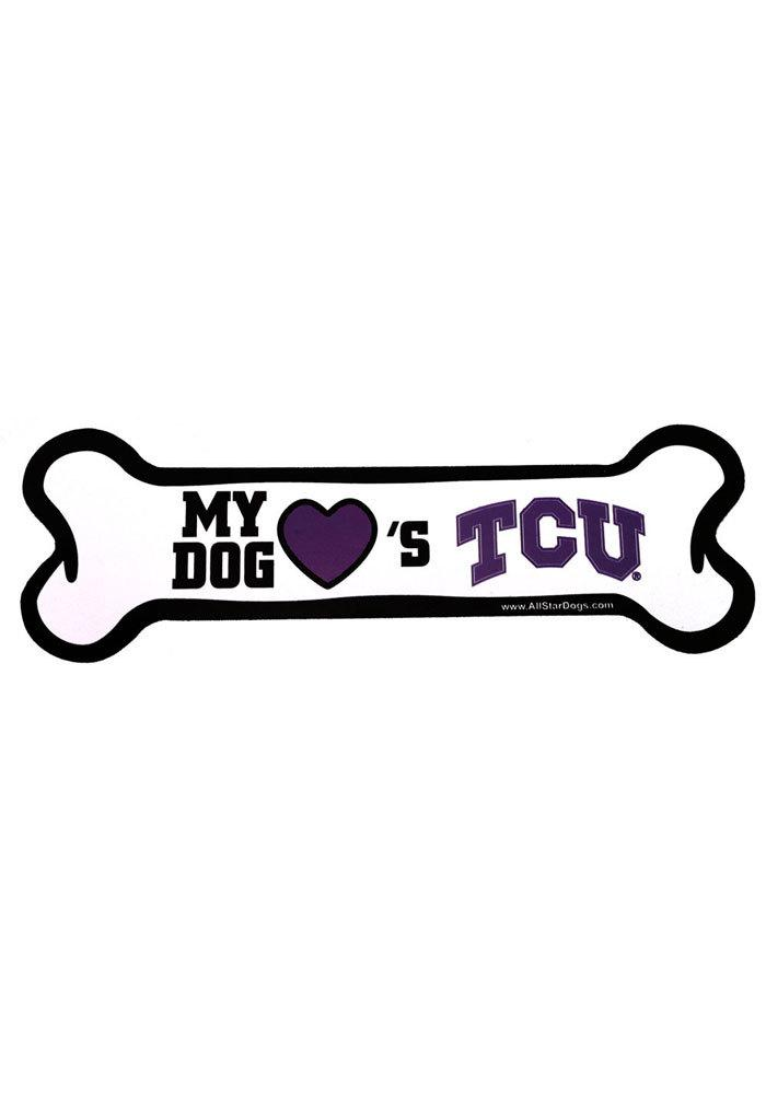 TCU Horned Frogs Bone Pet Magnet - Image 1