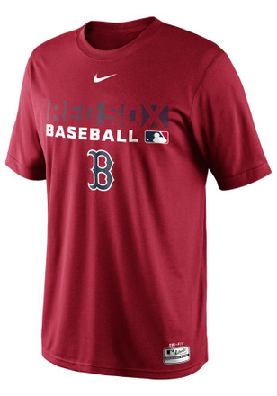 Nike Boston Red Sox Mens Red Dri-FIT Tee