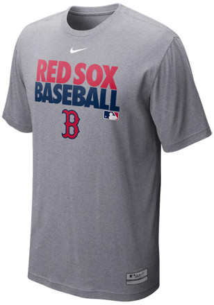 Nike Boston Red Sox Mens Red Cotton Dri-FIT Tee