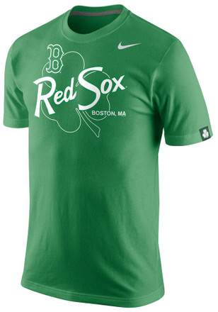 Nike Boston Red Sox Mens Green Triblend Tee