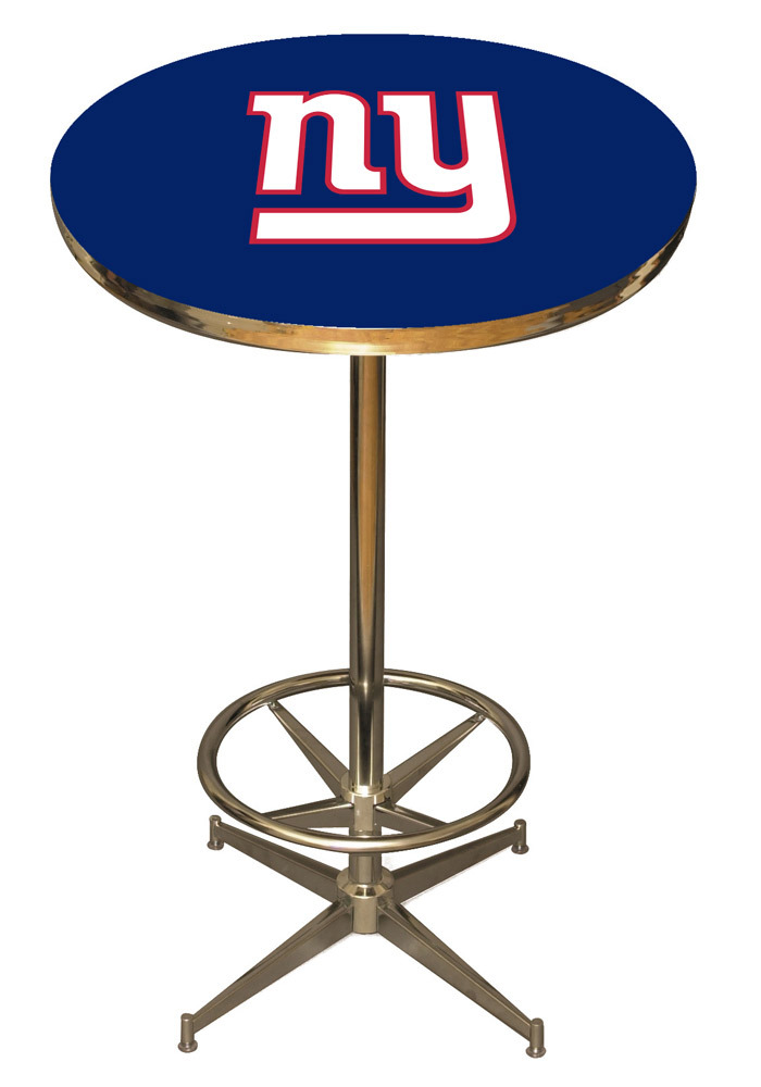 New York Giants Blue Pub Table - Image 1