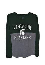 Michigan State Spartans Juniors Sideline Jersey Green LS Tee