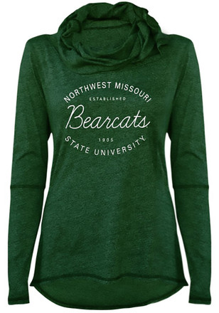 Northwest Missouri State Bearcats Juniors Green Jewel Cowl Hoodie