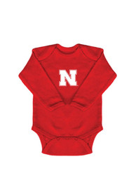 Nebraska Cornhuskers Baby Red Logo One Piece