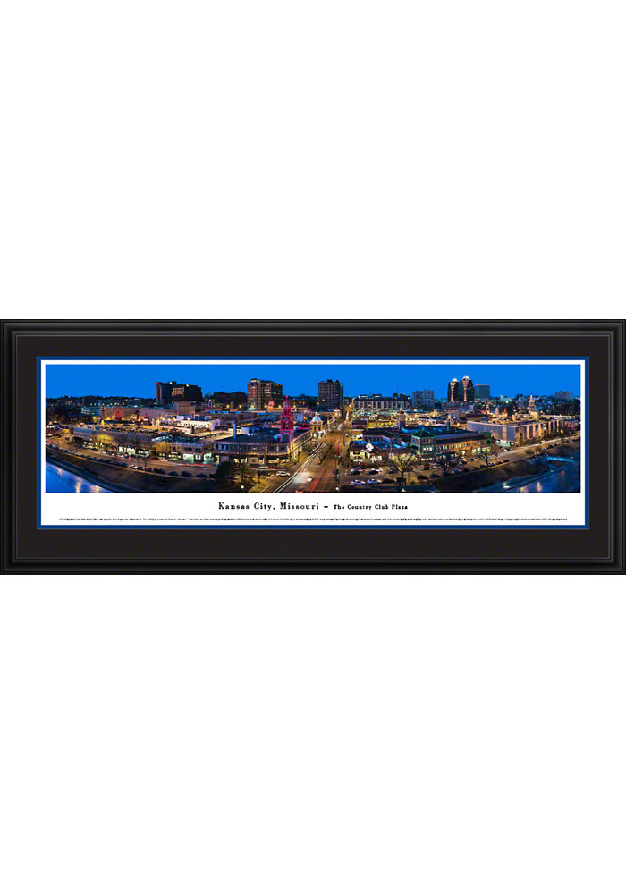Local Kansas City Gifts Lighted Plaza at Night Framed Posters - Image 1