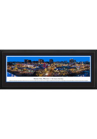 Local Kansas City Gifts Lighted Plaza at Night Framed Posters