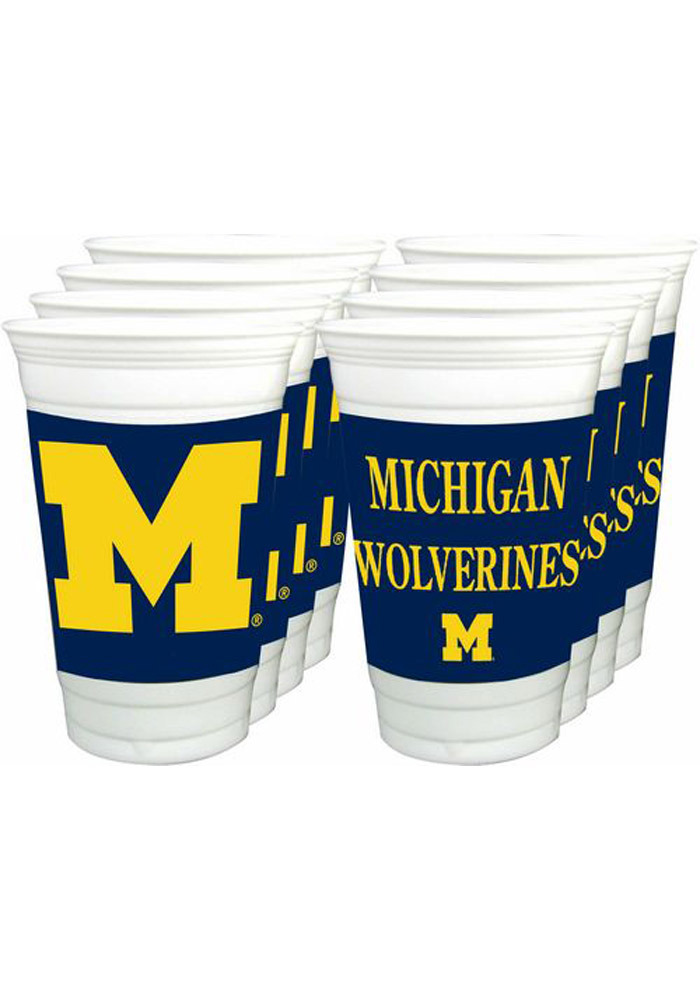 Michigan Wolverines 8pk 20oz Disposable Cups 15690019