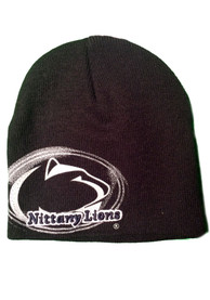 Top of the World Penn State Nittany Lions Black Black Diffuser Youth Knit Hat