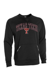 Russell TTech Red Raiders Mens black Performance Performance Sweatshirt
