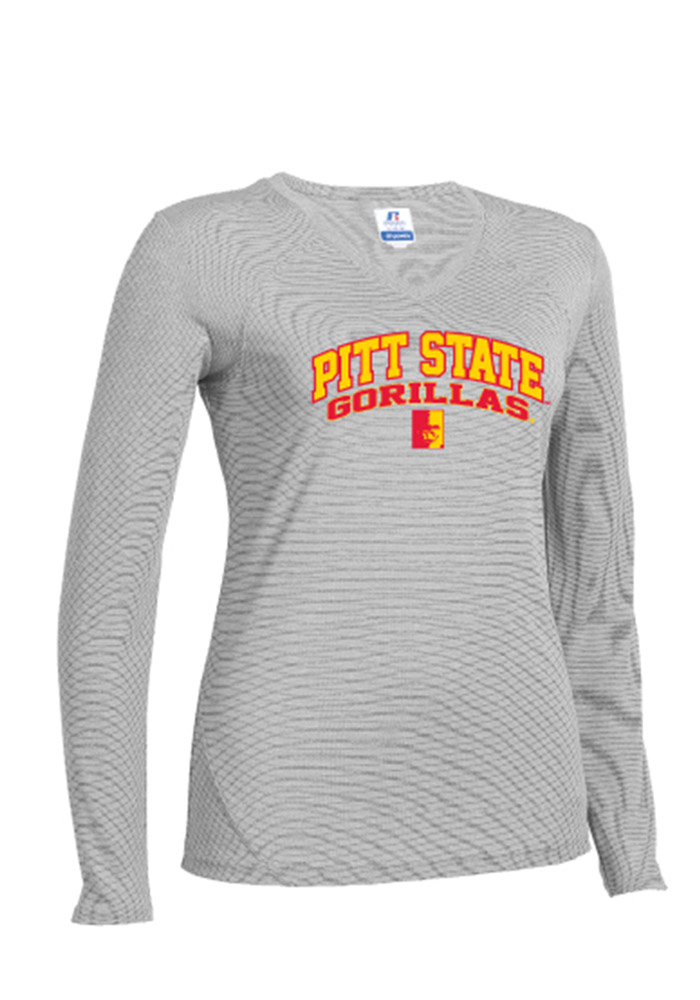 Pitt State Gorillas Womens Grey STE Long Sleeve T-Shirt - Image 1