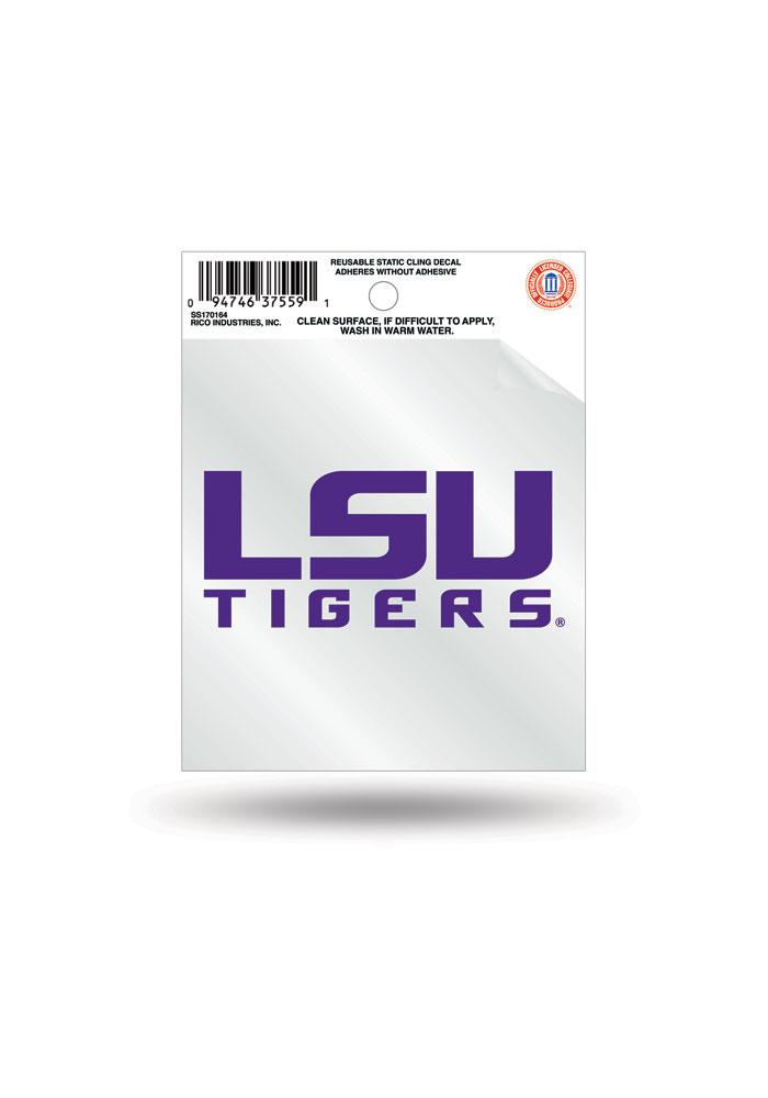 LSU Tigers Small Auto Static Cling - Image 1