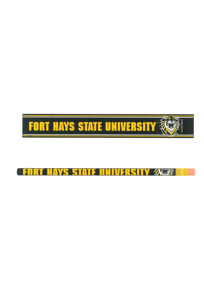 Fort Hays State Tigers 6 Pack Pencil - Image 1