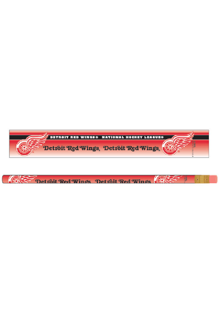 Detroit Red Wings 6 Pack Pencil - Image 1