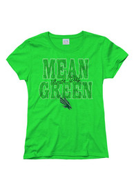 North Texas Mean Green Juniors Green Fade Script T-Shirt