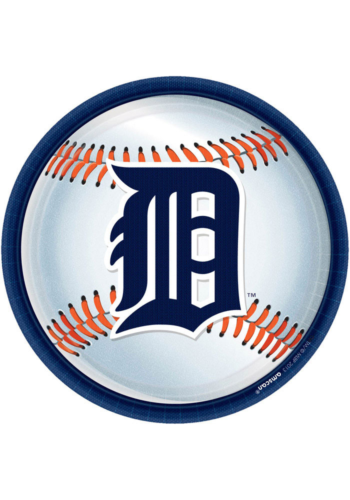 Detroit Tigers 9 Inch 18 Pack Paper Plates - Image 1