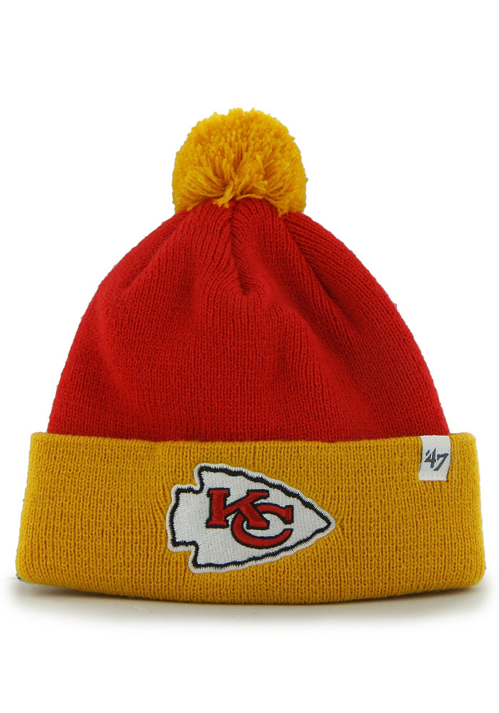 '47 Kansas City Chiefs Bam Bam Baby Knit Hat - Red - Image 1