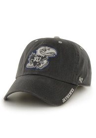 47 Kansas Jayhawks Ice Clean Up Adjustable Hat - Charcoal