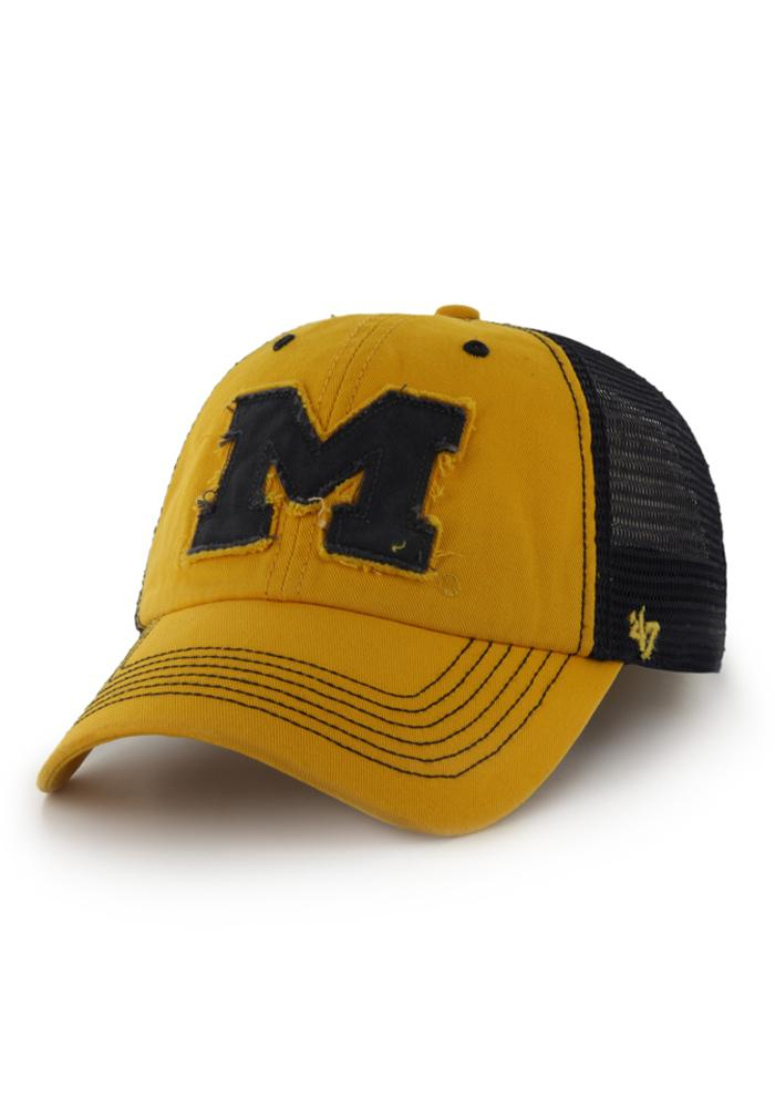 '47 Michigan Wolverines Mens Gold Taylor 47 Closer Flex Hat - Image 1