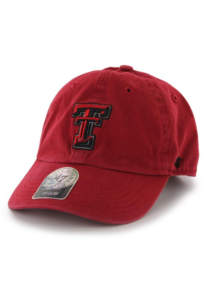 '47 Texas Tech Red Raiders Clean Up Adjustable Hat - Red - Image 1