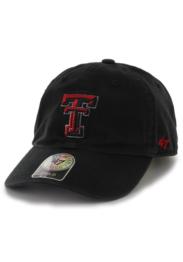 '47 Texas Tech Red Raiders Mens Black Clean Up Adjustable Hat - Image 1
