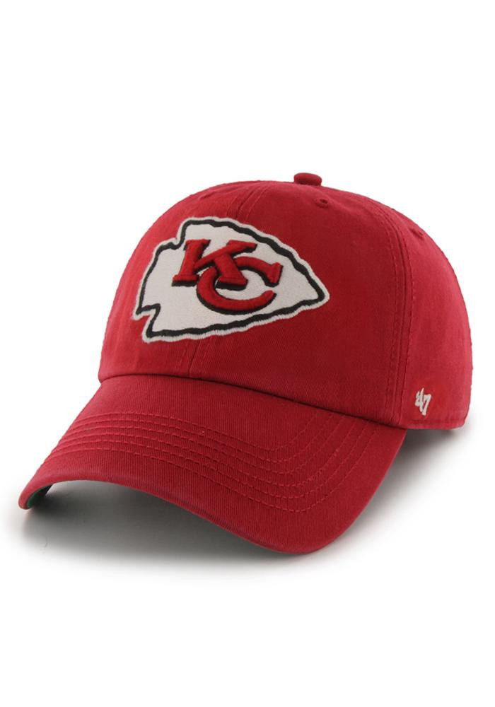 '47 Kansas City Chiefs Mens Red 47 Franchise Fitted Hat - Image 1