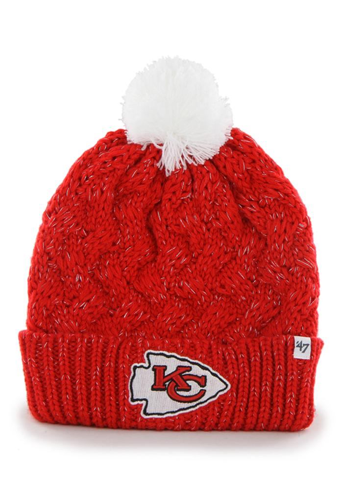 47 Kansas City Chiefs Red Fiona Womens Knit Hat - Image 1