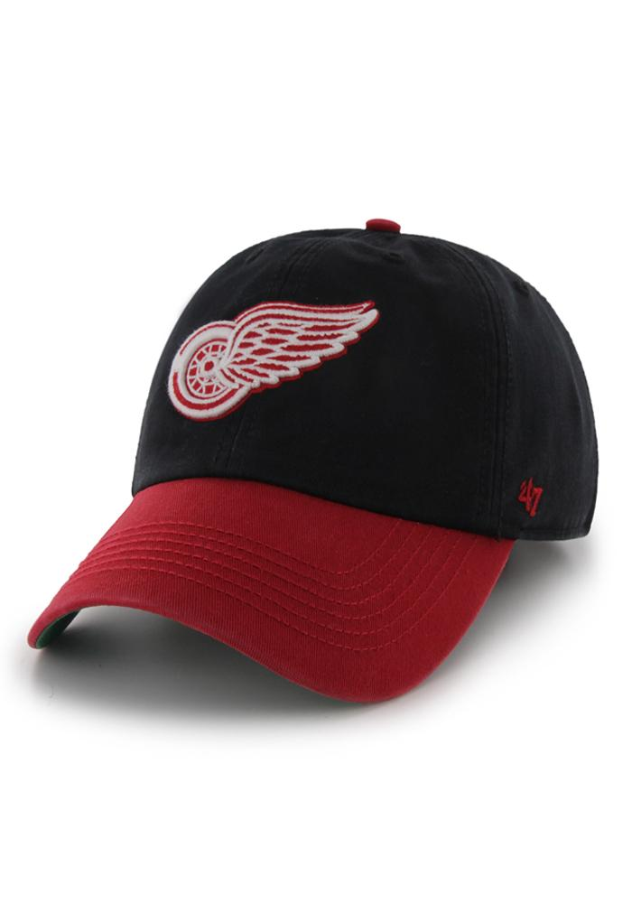 47 Detroit Red Wings Mens Black 47 Franchise Fitted Hat - Image 1