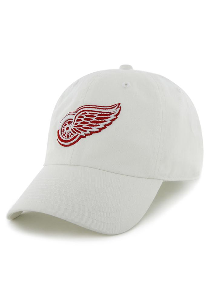 '47 Detroit Red Wings Mens White Clean Up Adjustable Hat - Image 1