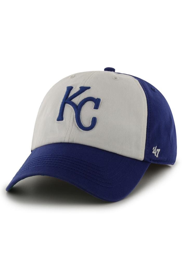 '47 Kansas City Royals Mens White 47 Franchise Fitted Hat - Image 1
