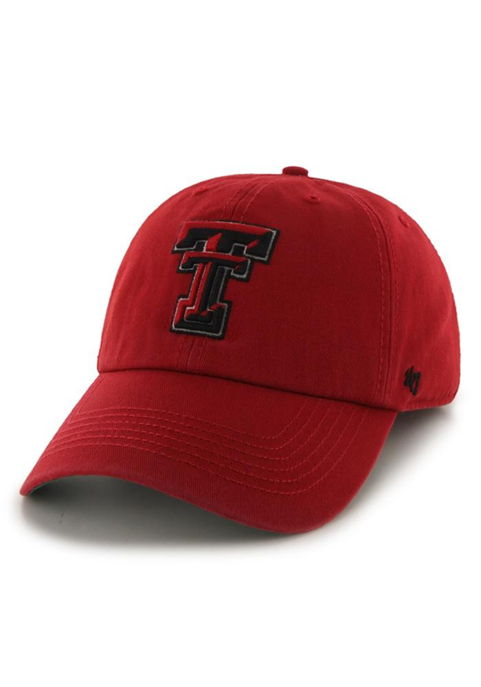 '47 Texas Tech Red Raiders Mens Red 47 Franchise Fitted Hat - Image 1