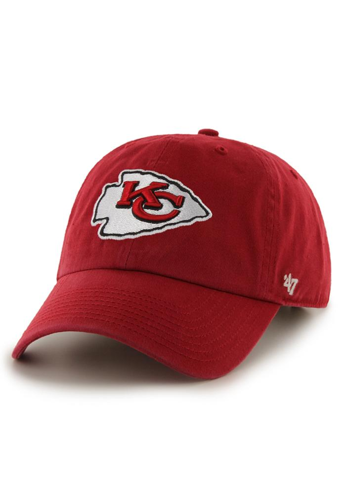 47 Kansas City Chiefs Red Clean Up Adjustable Hat fef8c0672e2b