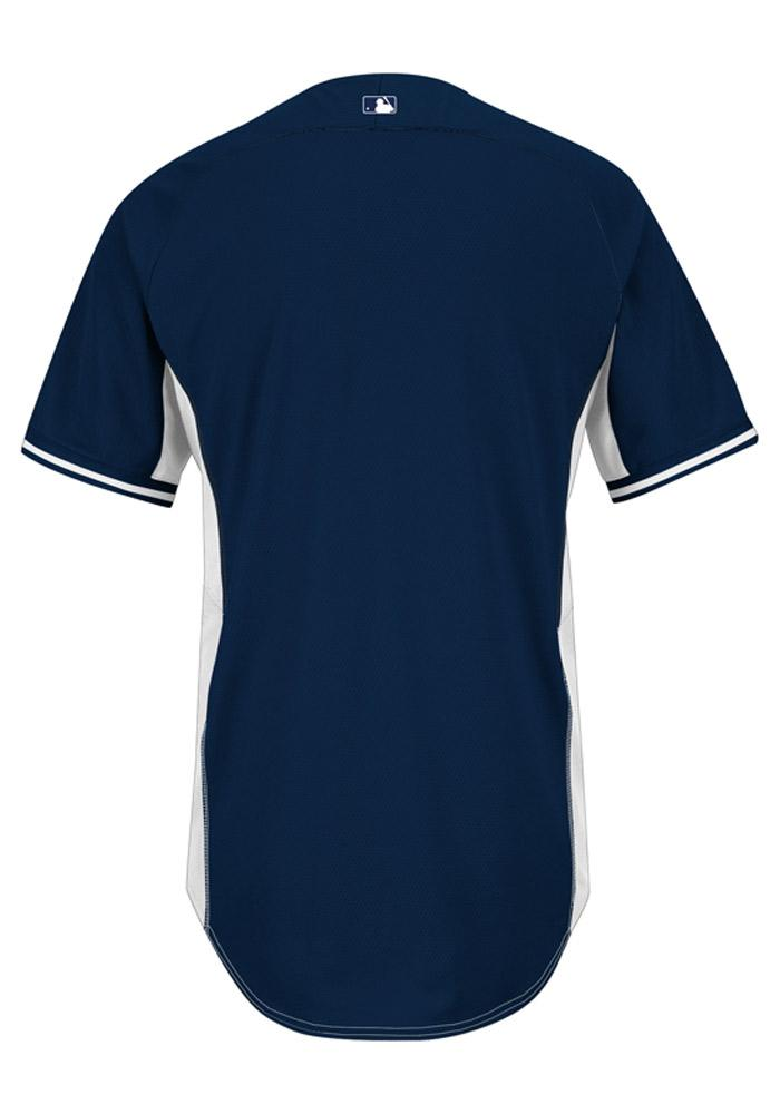 Detroit Tigers Mens Majestic Batting Practice Jersey - Navy Blue - Image 2