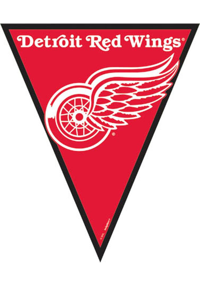 Detroit Red Wings 12x10 6 Pack Pennant Streamers - Image 1