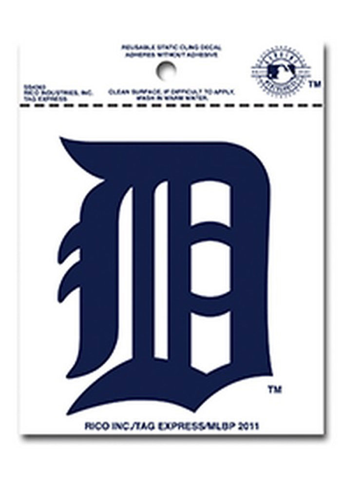 Detroit Tigers Small Auto Static Cling - Image 1