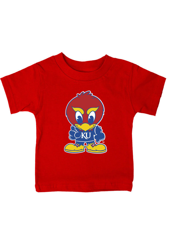 Kansas Jayhawks Infant Jr Jay Short Sleeve T-Shirt Red - Image 1