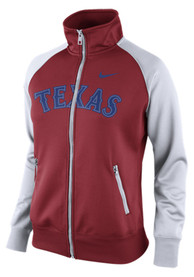 Nike Texas Rangers Womens Logo Red Track Jacket