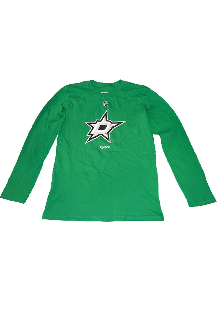 Dallas Stars Youth Green Primary Logo Long Sleeve T-Shirt - Image 1