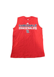 St Louis Cardinals Youth Red Muscle Tank Top