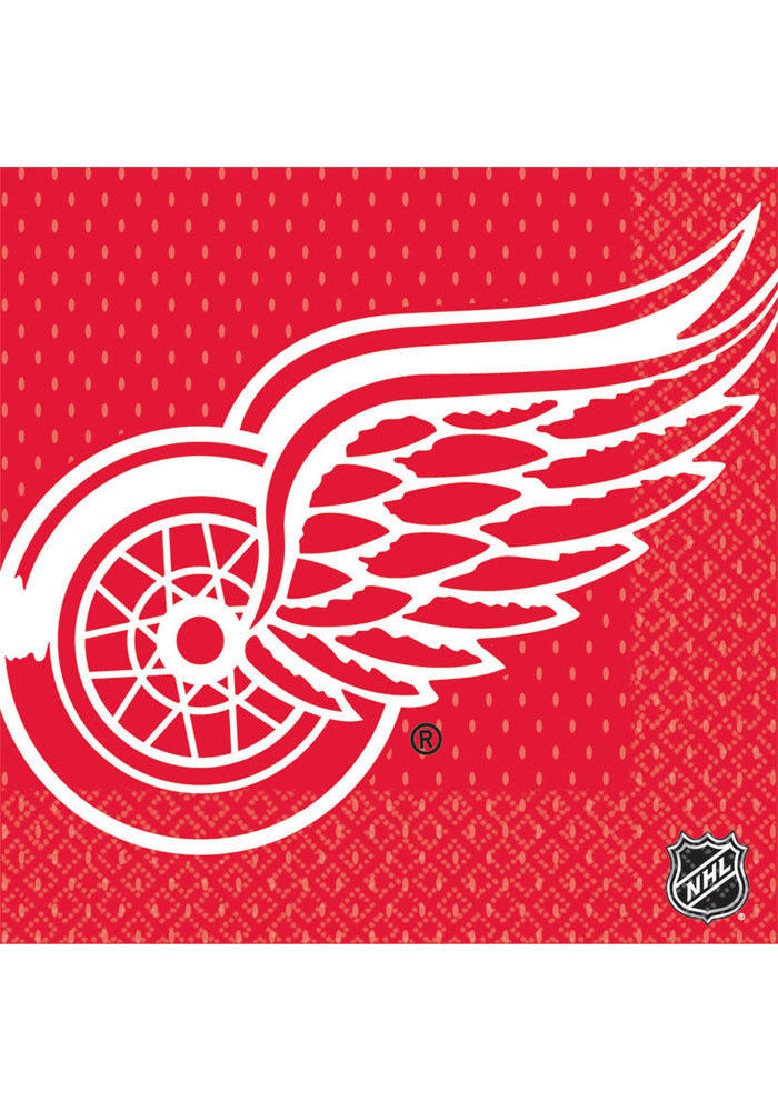 Detroit Red Wings Luncheon 16 Pack Napkins - Image 1