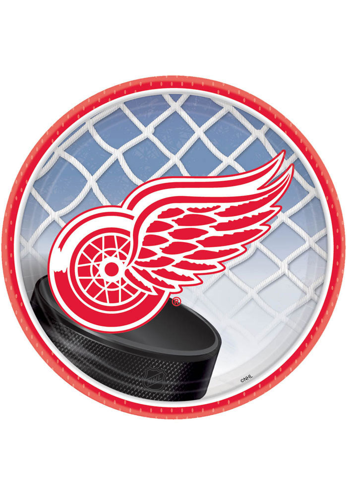 Detroit Red Wings 7 Inch 8 Pack Paper Plates - Image 1