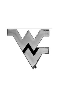 West Virginia Mountaineers Chrome Car Emblem - Silver