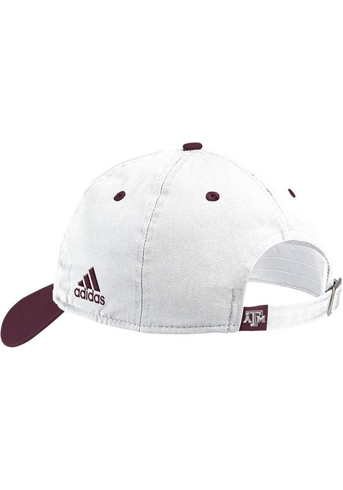 Adidas Texas A&M Aggies Mens White Spring Slouch Adjustable Hat - Image 2