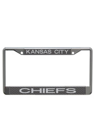 Kansas City Chiefs Team Name Carbon Fiber License Frame