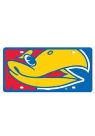 Kansas Jayhawks Mega Logo Car Accessory License Plate