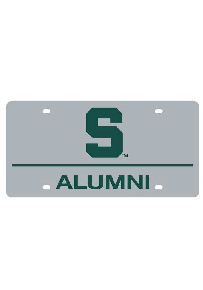 Michigan State Spartans Logo with Alumni Car Accessory License Plate - Image 1