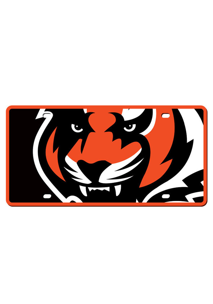 Cincinnati Bengals Mega Logo Car Accessory License Plate - Image 1