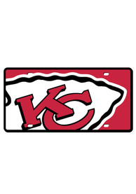 Kansas City Chiefs Team Name Mega Logo Car Accessory License Plate