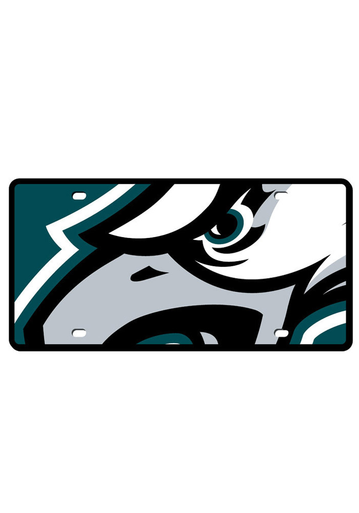 Philadelphia Eagles Mega Logo Car Accessory License Plate - Image 1