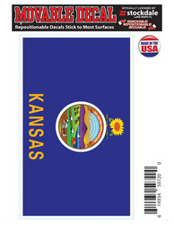 Kansas State Seal Auto Decal - Blue